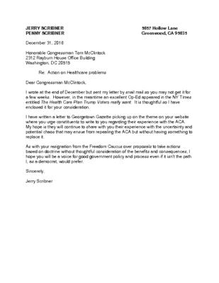 Letter to McClintock Jan 5 2017