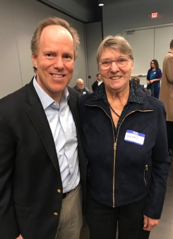 "Dan Kohl, Democratic Congressional Candidate for Wisconsin's 6th District ,at the recent annual Kennedy Dinner. Dan sat at my table and we had lots of laughs about high school days, campaigning and now being an ""empty nester"".  What a great guy!"
